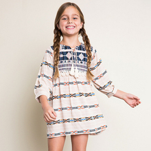 teenage girl dress pendulum autumn age 8 10 12 13 autumn sundress clothing anchor blue clothes fancy frock vintage gowns