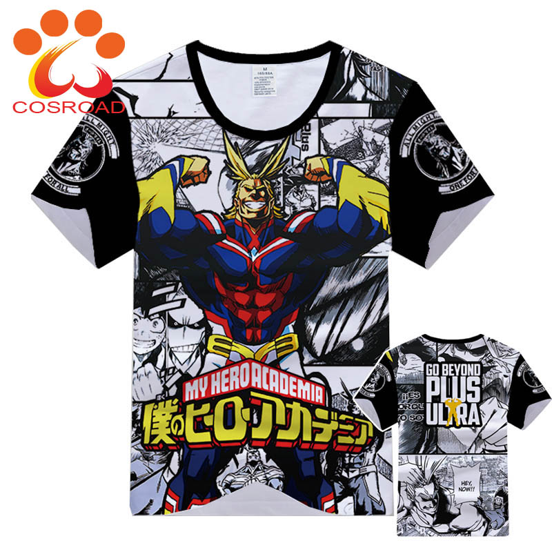 Anime My Hero Academia Cos T-Shirt Mens Women Short sleeve