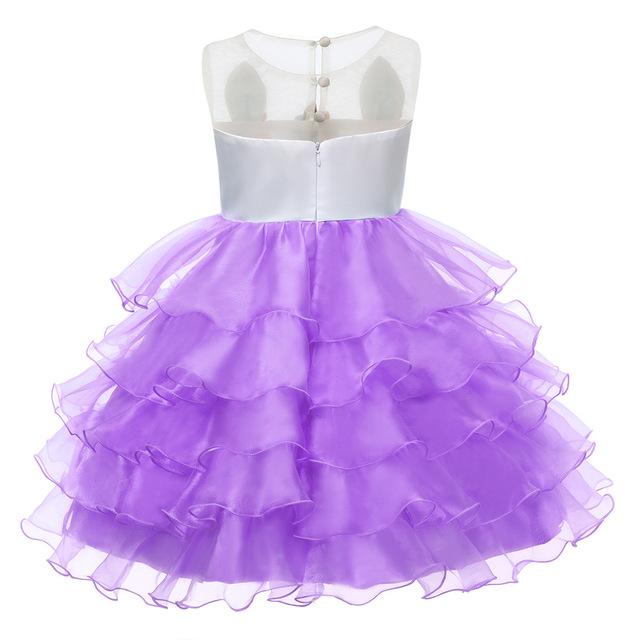 Licorne Robes pour Fille Partie Robe Nouvel An Costume Kids Party Princesse Robes Pour Filles de Soirée D'anniversaire Robes Vêtements
