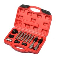 13 Pcs Alternator Freewheel Pulley Removal Engine Auto Tool Set For Mercedes Benz BMW SK1085