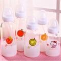 2016 novos dos desenhos animados de frutas garrafas de 260 ml e 350 ml garrafa de vidro de borosilicato Criativo Crianças