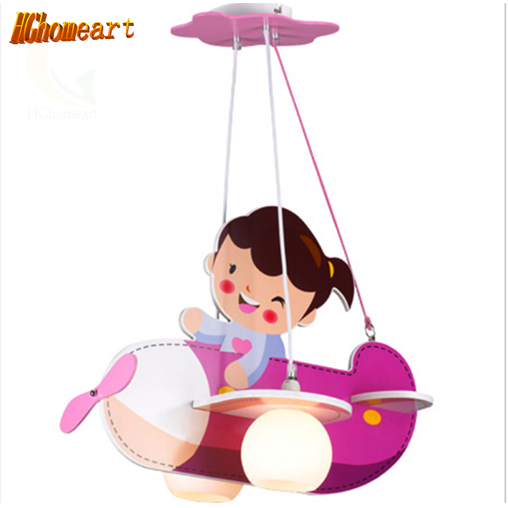 Hghomeart Children lamp children's bedroom lamp aircraft lamp creative children's room pink cartoon girl child ceiling light creative cartoon ceiling lamp smd led electrodeless dimmable air plane shape light study children boy girl room bedroom