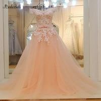 modabelle Peach A line Formal Evening Dresses Gown Robe De Soiree 2018 Sweetheart Long Prom Dresses Elegant Vestidos Longos