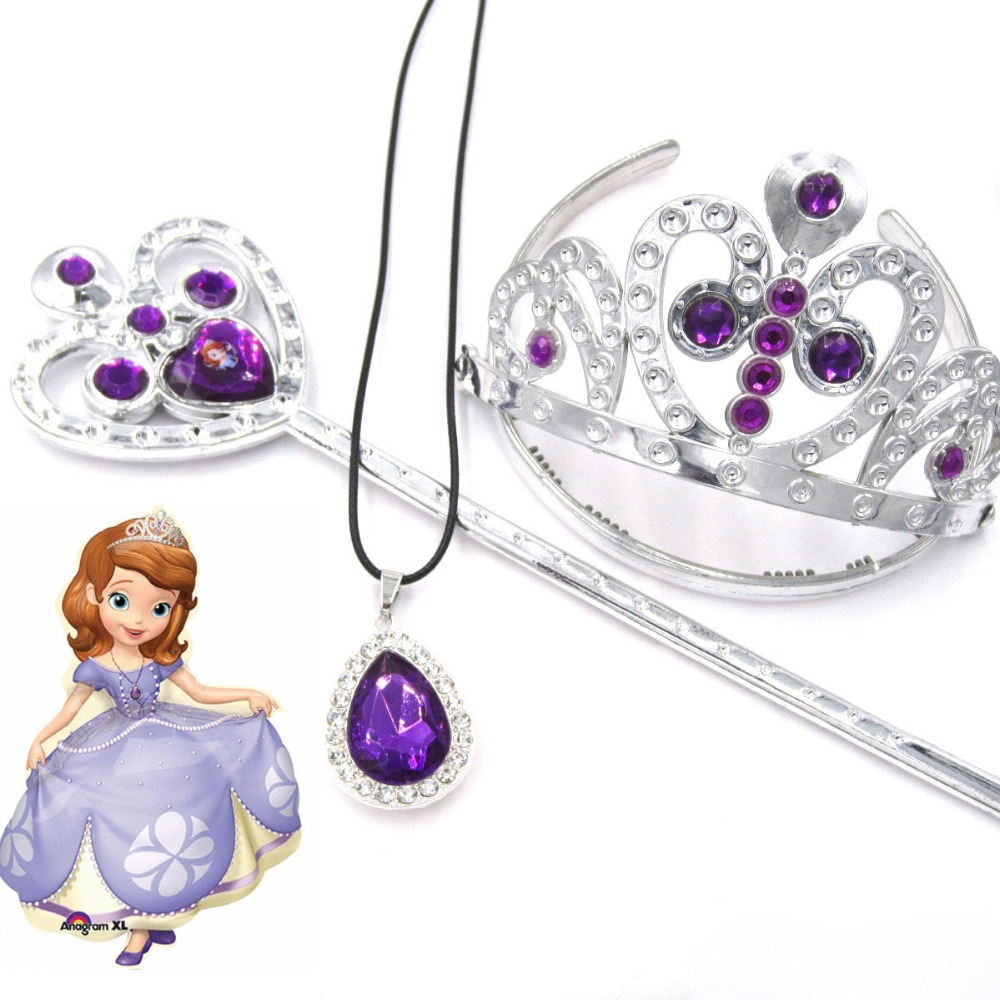 Princess Girl Dressing Up Jewellery Disney Sofia the First Ring and Earrings