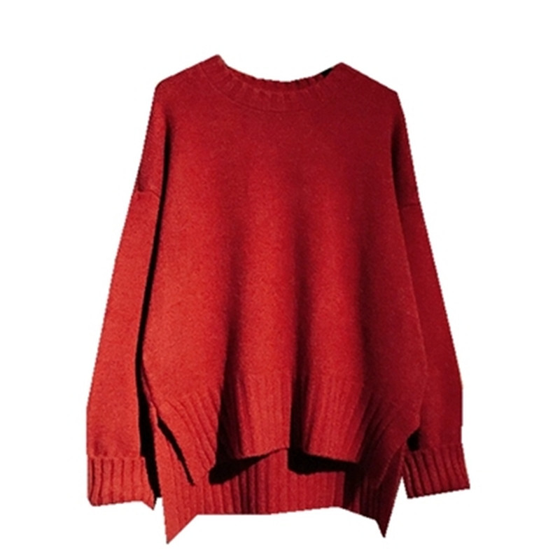 Small fresh sweater female 2019 spring and autumn new Korean version of the loose round neck