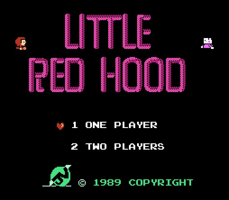 Little Red Hood Game Card For 72 Pin 8 Bit Game Player