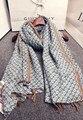 Бренд шарф 2016 женщин осень зима свежий элегантный длинные геометрический узор шарф Японский стиль цветочный дизайнер глушитель мыс