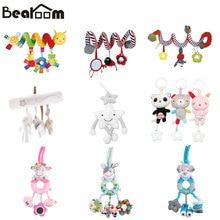 Bearoom погремушки, игрушка для коляски, милые подвижные игрушки для малышей, музыкальная коляска, кукла, мягкий колокольчик, погремушка для детской кроватки, обучающий материал для малышей