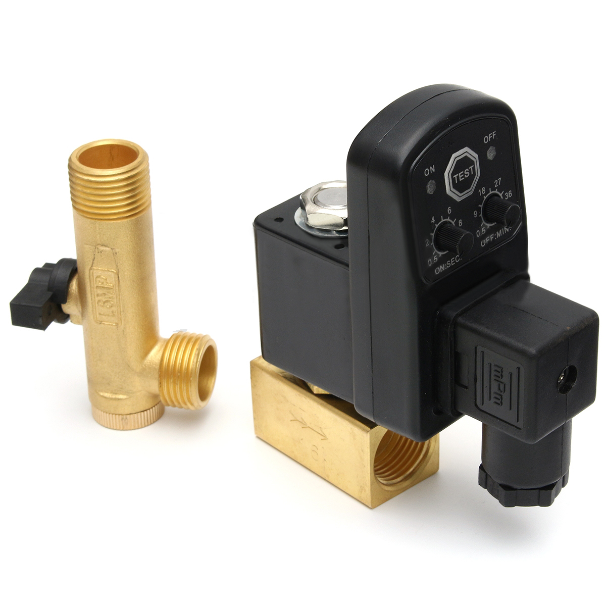 1pc 1/2 Electronic Timed Drain Valve AC110V/AC220V Air Compressor Cylinders Gas Tank Automatic 2-way Drain Valves Mayitr best nr 0200 2 way electronic auto timer compressor drain valve 220v ac 1 2 orifice 3mm brass flow drainer