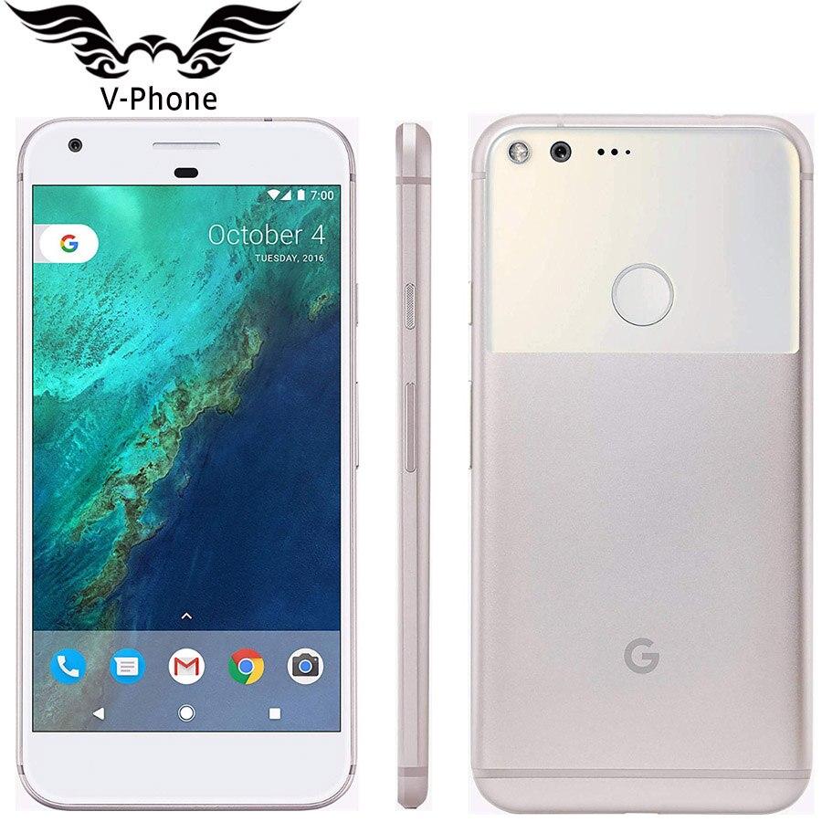 5.5 ''Google Pixel XL NOUS Version Smartphone 32 gb 128 gb ROM Nouveau 4g LTE Android Mobile téléphone snapdragon Quad Core D'empreintes Digitales