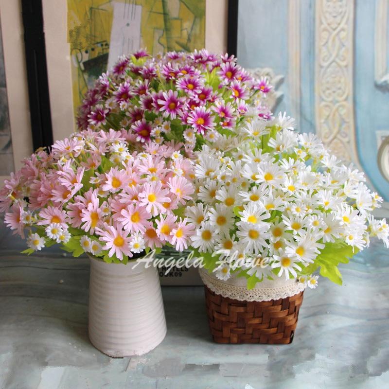 Весна Красочные шелк искусственный цветок ромашка для свадебного стола украшения дешевые фото реквизит декоративные цветы один букет