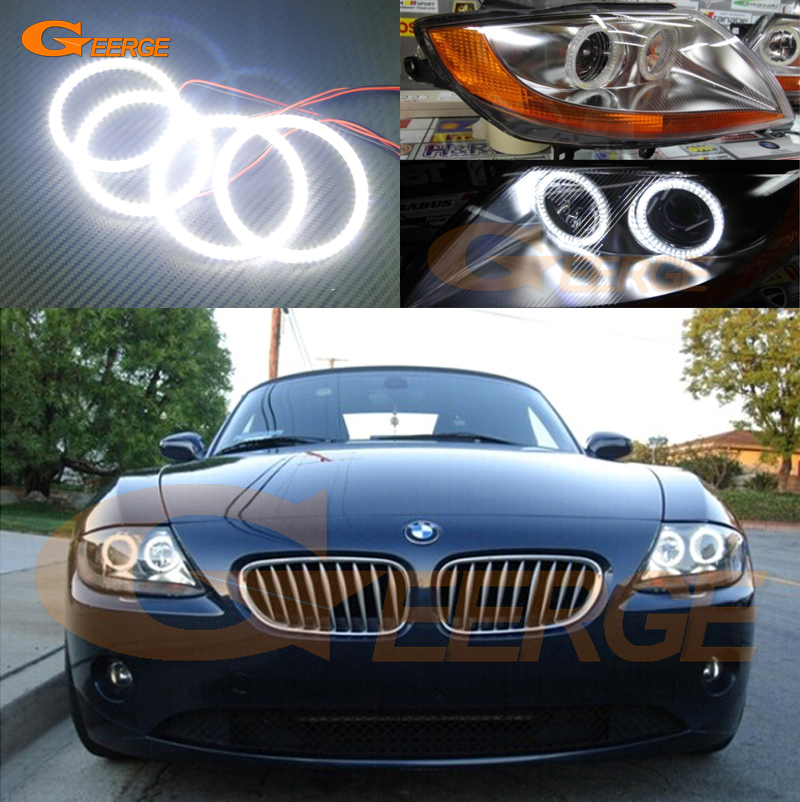 For BMW Z4 E85 E86 2002 2003 2004 2005 2006 2007 2008 Excellent Ultra bright illumination smd led Angel Eyes Halo Ring kit