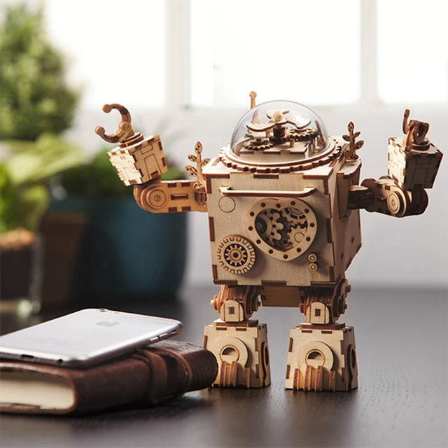 Robotime Wooden Steampunk Robot