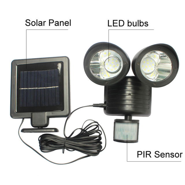 Solar Powered Panel LED Street Light PIR Motion Sensor Lighting Outdoor  Waterproof Path Wall Emergency Security