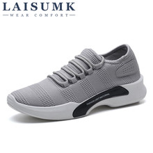 2019 LAISUMK New Spring Summer Mens Casual Shoes Cheap chaussure homme Korean Breathable Air Mesh Men