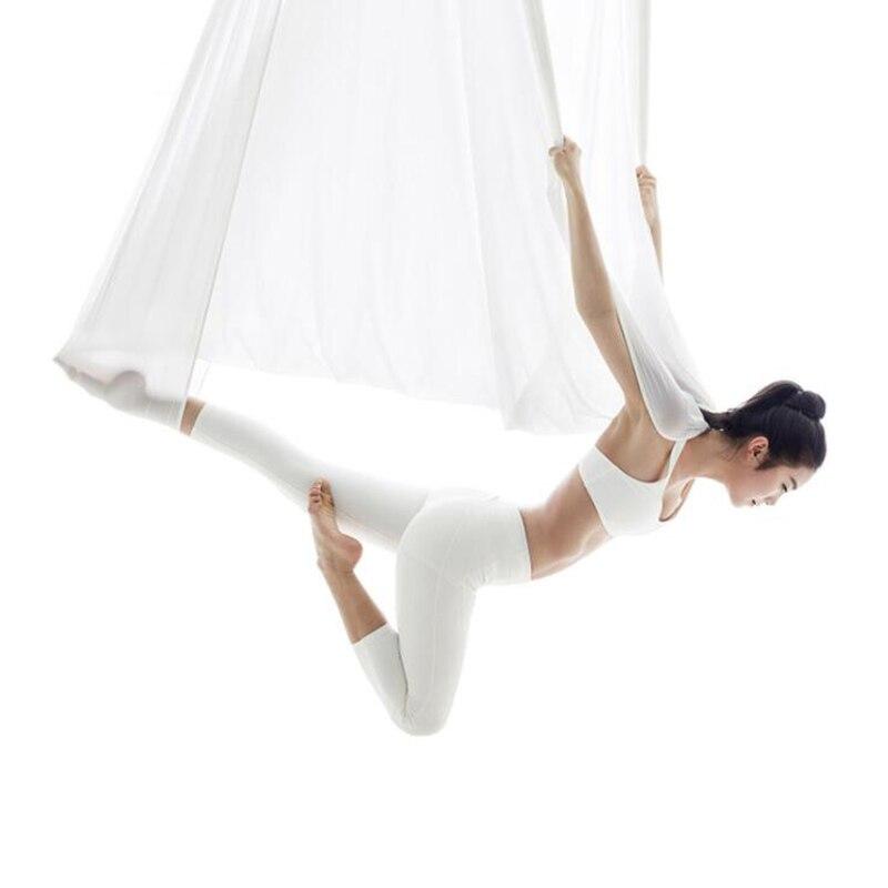 4 m/5 m hamac de yoga Anti-gravité sangle de yoga s balançoire de yoga Trapèze Swing Pilates sangle de yoga Body Fitness Équipement de Mise En Forme XYDC01
