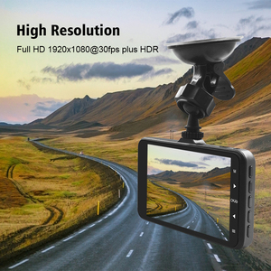 """Image 4 - Voiture Dash Cam 4 """"HD 1080P enregistreur de conduite 170 degrés grand Angle Vision nocturne voiture DVR véhicule double lentille caméra de tableau de bord g sensor"""