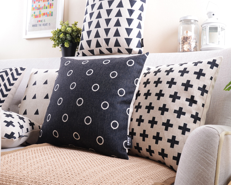 buy retro decorative pillow black and white geometric home decoration pillow creative abstraction decorative throw pillows from reliable