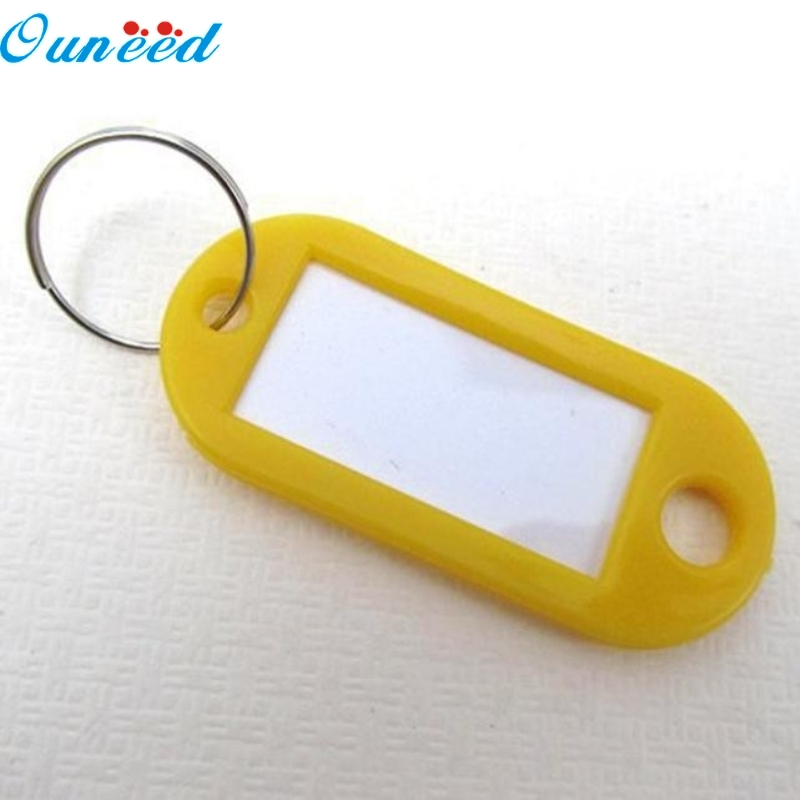 Ouneed Happy Gift 100 Pieces Plastic Key Tags Assorted Key Rings ID Tags Name Card Label Hot Sale 1PC 1pc hot sale 100