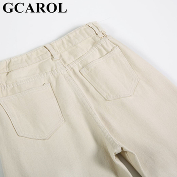 GCAROL 2019 Spring Fall Elastic Waist Retro Old Pants Ankle Length First Love Loose Vintage Straight Pants Plus Size 25-32 6