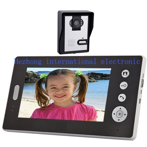 7 wireless video door phone / digital building intercom systems ( rainproof camera / photo memory )