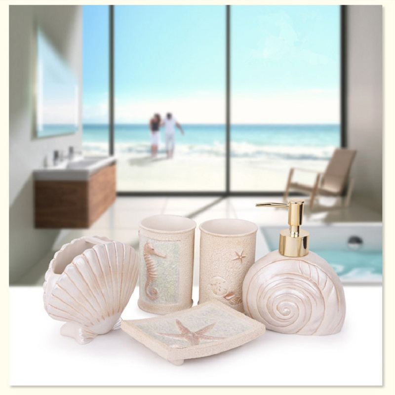 European Bathroom Set Ocean Resin Rack Toothbrush Simple Shell Accessories Innovation In Sets From