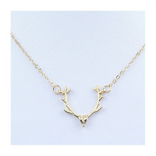 Fashion Jewelry Popular Antlers Pendant Necklaces For Women Gold-color Deer Hanging Necklaces Best Presents For Girls x224