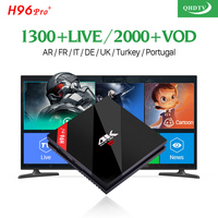 H96 Pro French IPTV Box 4K Android Arabic IPTV Box For France Belgium Dutch Arabic Buyer