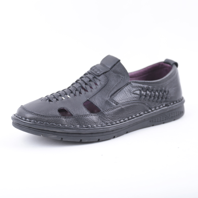 SHUANGFENG New Arrival 2018 Summer Sandals Men Shoes Genuine Leather Breatherable Hole Shoes Man Casual Sandals sandalias hombre