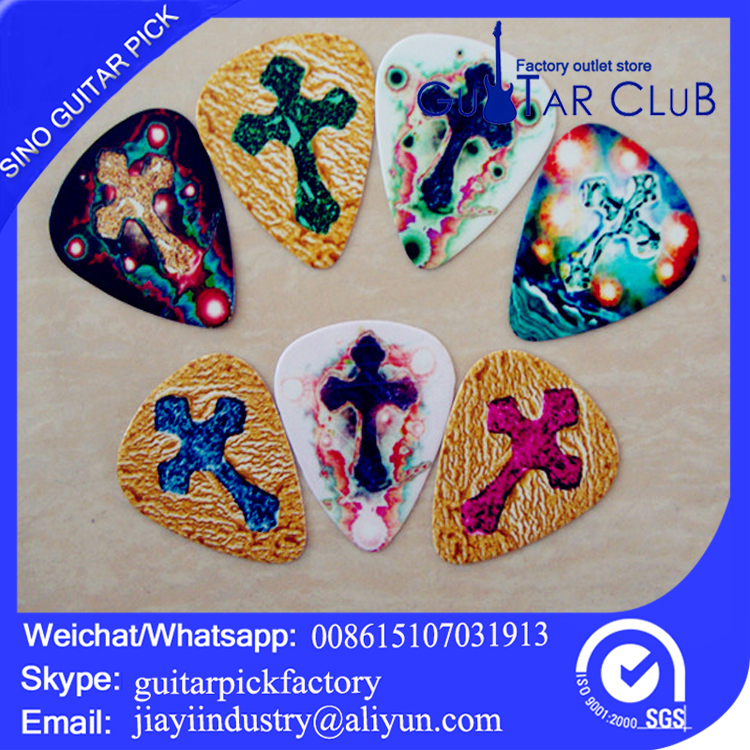 Free shipping 120pcs a lot Jesus band logo printing guitar pick plectrum0.71mm