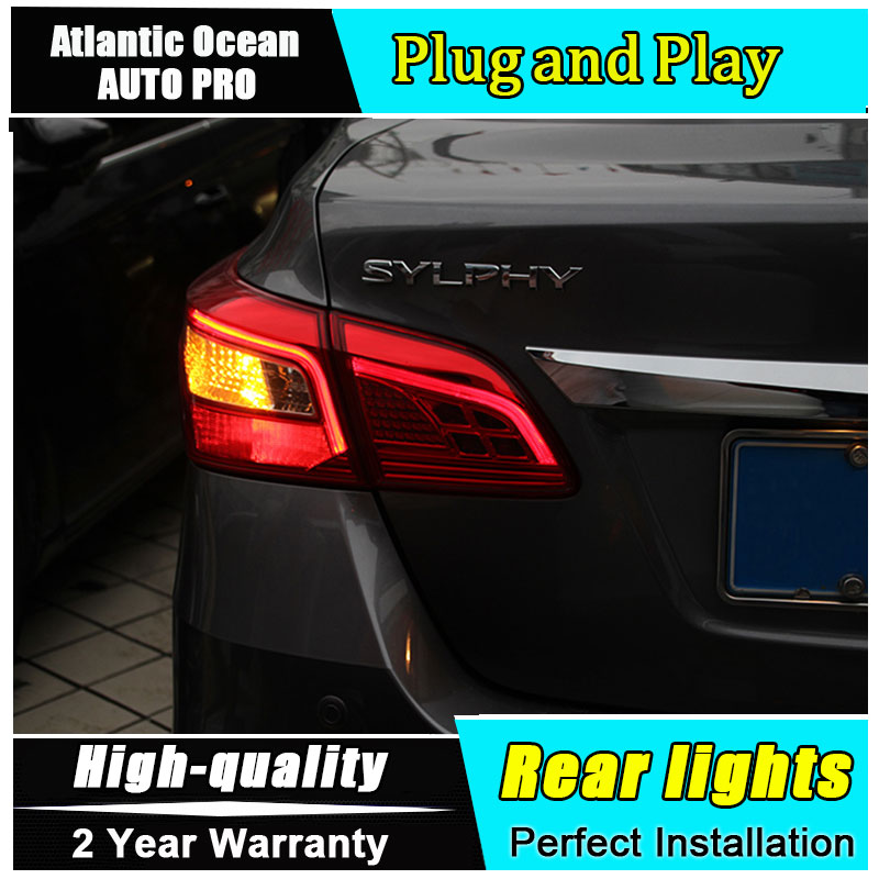 Car Styling for Nissan Sylphy Sentra LED Taillights 16-17 for Sylphy Tail Lamp Rear Lamp Fog Light For 1Pair ,4PCS . jgrt car styling for vw tiguan taillights 2010 2012 tiguan led tail lamp rear lamp led fog light for 1pair 4pcs