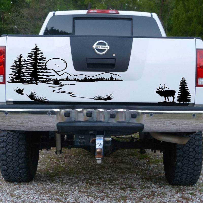 Pegatina Hunt Forest Reindeer Decal Hunting Club Buck Sticker Hollow Sticker Hunter Car Window Vinyl Decal Poster Motorcycle buck grizzly bear folding hunter