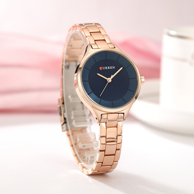 CURREN Top Brand Fashion Ladies Watches Stainless Steel Band Quartz Female Wrist Watch Ladies Gifts Clock Relogio Feminino 3