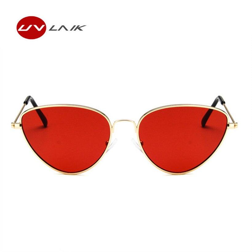 Women's Sunglasses retro Small Thin Frame Sunglasses Women Vintage Pink Purple Lens Mirror Red Shades Female Sexy Ladies Tiny Sun Glasses Durable Modeling el Malus