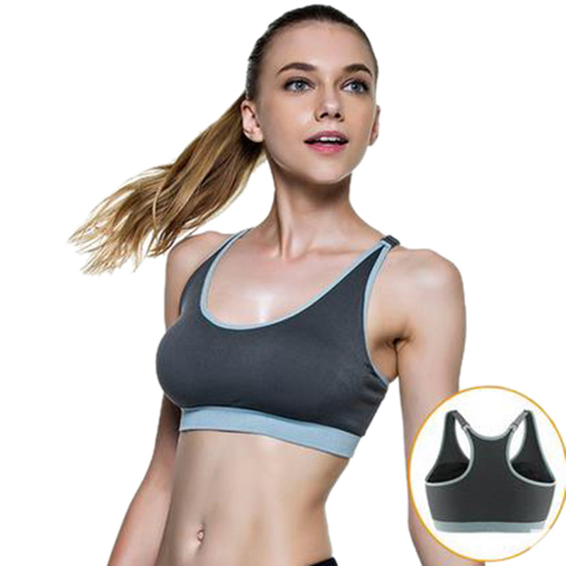 547aab6c31 CALOFE Sexy Push Up Racerback Sports Bra Women Top Shockproof Brassiere  Sport Woman Fitness Plus Size Padded Gym Running Bra-in Sports Bras from  Sports ...