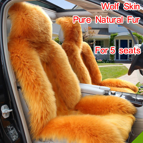 Aki ool vlčí polštář vlčí auto sedák polštář vlněné auto - Příslušenství interiéru vozu