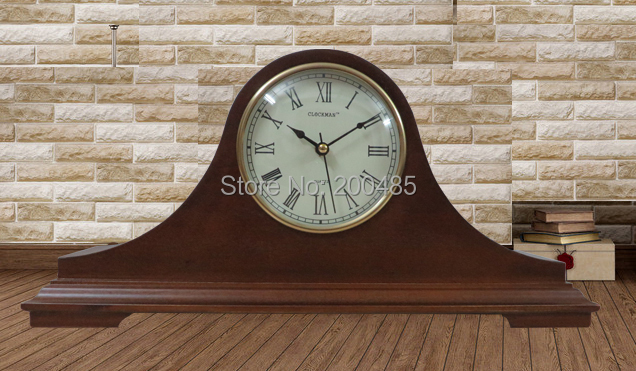 Napoleon Hat Wooden Antique Mantle Table Clock With Westminster