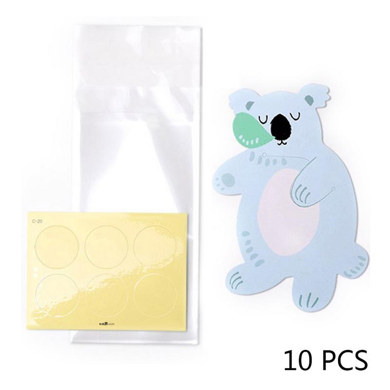 10 шт./лот, милые животные, медведь, кролик, коала, сумки для конфет, поздравительные открытки, сумки для печенья, подарочные сумки для детского душа, украшения для дня рождения - Цвет: C