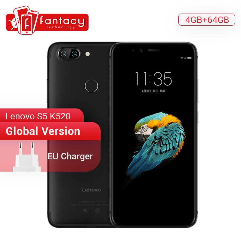 Image 1 - Global Version Lenovo S5 K520 4GB RAM 64GB ROM Snapdragon 625 Octa core Smartphone Dual Rear 13MP Cameras Face ID 4K Cellphone-in Cellphones from Cellphones & Telecommunications