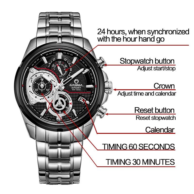 CASIMA zegarki męskie sportowe męskie zegarki. Wielofunkcyjny - Męskie zegarki - Zdjęcie 4