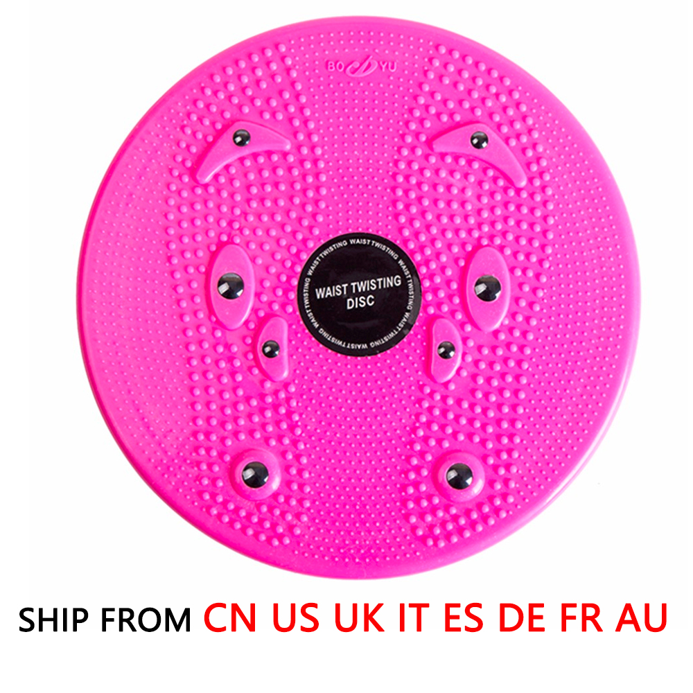 (Ship From 8 Countries) Aerobic Balance Board Fitness Waist Torsion Disc Board Magnet Twist Board 360 Degree Rotation Massage