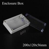 200*120*56 m cubierta Impermeable/caja a prueba de agua/Caja de Control con cubierta transparente transparente 200x120x56mm