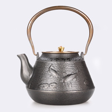 Original iron uncoated Teapot Japanese craft old pot cast handmade copper cover Health teapot
