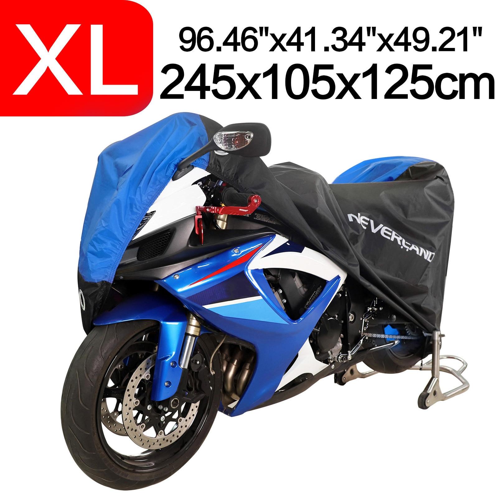 M-3XL Waterproof Outdoor Motorcycle Motorbike Cruiser Scooter Cover Black/&Orange