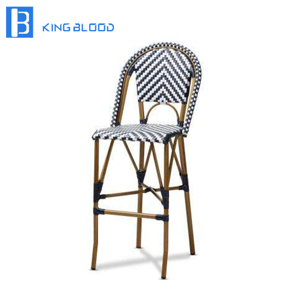 Chaise de meubles de tabouret de bar en osier en rotin|Ensembles de jardin| |  -