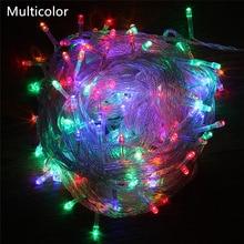 ECLH уличный струнный светильник s 5 м 10 м 20 м 30 м 50 м 100 м светодиодная гирлянда Сказочный светильник 8 режимов Рождественский светильник для праздника, свадьбы