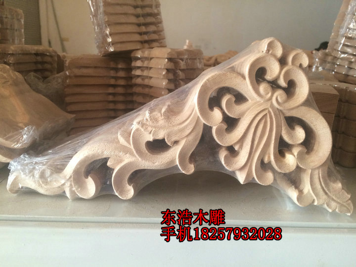 Superb Solid Wood Corner Flower Door Furniture Applique Cabinet Door Applique  Fashion Wood Shavings Decoration Flower Sculpture