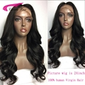 Unprocessed virgin Brazilian glueless full lace human hair wigs Long loose wave lace front wigs for black women with Baby Hair