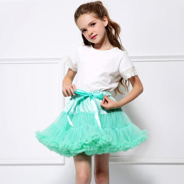 Mullido suave bebé tul niñas tutú faldas Pettiskirt niños princesa ropa cumpleaños regalo vestido de bola de niño pequeño fiesta niños falda