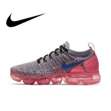 the latest 60459 4170c Official Original NIKE Air Max Vapormax Flyknit Women s Running Shoes  Sneakers Breathable Rubber Cushioning Lace-Up 942843 Cozy